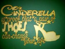 """""""Cinderella - a pair of shoes"""" MDF blank plaque"""