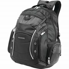 "New 19"" Black Business BACKPACK Bag Computer Notebook Laptop Sleeve Padded Case"