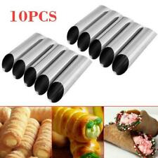 10x Cannoli Form Cream Tubes Shell Horn Mould Baking Pastry Mold Croissant Tool