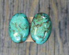 Turquoise cabochon Kingman  mine cab Earring set  Unique  ,F-128