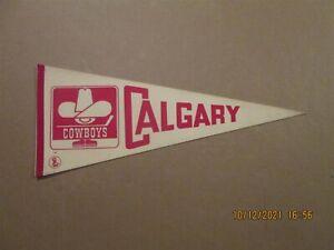 WHA Calgary Cowboys Vintage Defunct 1970's White Team Logo Hockey Pennant #2