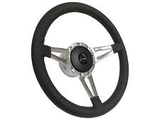 1969 Camaro / Slot Spoke Leather Steering Wheel, Hub & Button