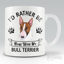 I'D RATHER BE HOME WITH MY BULL TERRIER Funny mug, novelty cup | dog lover gift