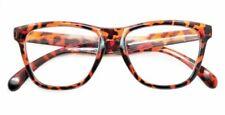 9130 Leopardo Marrón Empollón / Nerd Moda Retro Grande Gafas de Lectura +