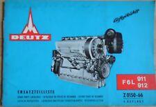 Deutz Motoren F 6 L 911 / 912 Ersatzteilliste