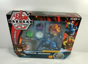 Bakugan Battle Pack Pyrus Maxotaur Aquos Mantonoid Set Battle Brawlers New
