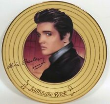 Elvis Preseley Solid Gold Collection Plate 'Jailhouse Rock' by Nate Giorgio