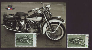 Luxembourg 2017 Maxi Card - Motorcycles Harley Davidson - 1 stamp and card