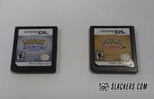 POKEMON SoulSilver + HeartGold NINTENDO DS 2-Cart Combo (loose) AUTHENTIC!! RPG
