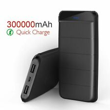300000mAh 2 USB External Power Bank Portable Type-C LED Charger for Cell Phone