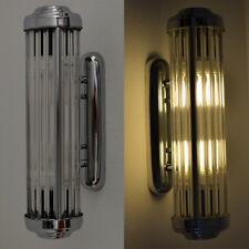 WALL LAMP CINEMA LAMP ART DECO CHROME GLASS STICKS SILVER Industrial Style LOFT