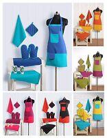 8 Piece Quality Kitchen Linen Set Apron Oven Gloves Hot Plate Holder Tea Towels