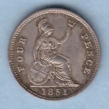 New listing Great Britain. 1851 Groat (4d). Unc - Full Lustre & Rare This Grade