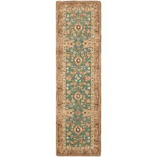 Teal/Camel Safavieh Anatolian Wool Carpet Runner 2' 3 x 8'