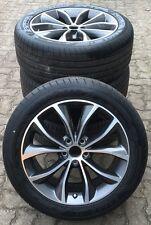 "Original Jaguar NUEVO XF 18"" Helix Gris RUEDAS COMPLETAS Goodyear"