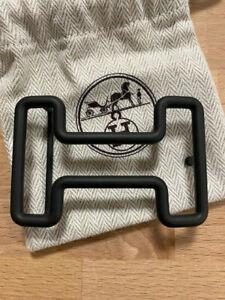 Rare Hermes 38MM BLACK TONIGHT Belt Buckle H Constance