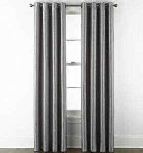 Jcp Home Malone Grommet Panel 50 W x 108 L Warsaw Gray