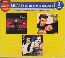 3 CD's Mijares Vol.2 CD NEW Partes De Mi Historia OFERTA BRAND NEW !