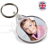 Premium Clear Acrylic Blank Keyrings Key Fobs Circle 38 mm | Round Photo
