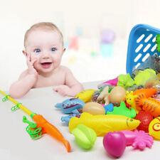 15Pcs Bath Toy Fishing Fish Model Magnetic Bathtub Set Gift For Baby ChildBDDD