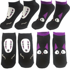 8+ Spirited Away Kaonashi JiJi Socks Cosplay Stitching short Crew warm Socking