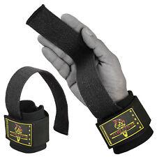 Gel Padded Weight Lifting Gym Straps Hand Bar Wrist Support Gloves Wrap Kombat