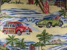 DEAN MILLER SURF BEDDING Beach Hawaii Prints Queen Duvet Shams Throw Pillow Set