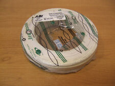 500' Genesis 22/2 Copper Stranded Alarm Cable White Security CL2 UL 22 AWG 2 2C