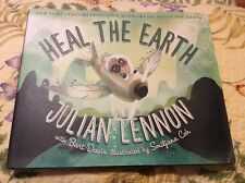 Julian Lennon Signed Auto Autographed Book Heal the Earth The Beatles First Ed.