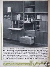 PUBLICITÉ 1962 FOURNIER ÉLÉMENTS INTERCHANGEABLES - ADVERTISING