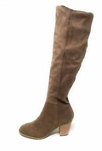 Report Footwear Womens Melvin Knee High Western Boots Taupe Size 6.5 M US