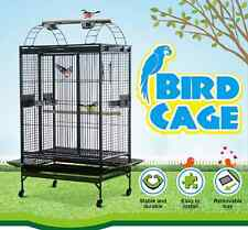 Lacework Bird Cage on Wheels for Medium to Large Size Parrots - Gray Bird Cage