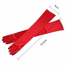 Lady Bridal Arm Finger Glove Elbow Gloves Party Wedding Opera Long Satin Evening