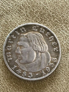 5 Mark, Deutsches Reich, Martin Luther, 1933 A, Silber