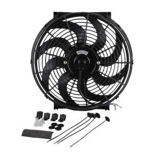 "Professional Universal 14"" Electric Car Radiator Cooling Fan 12V 90W Push/Pull"