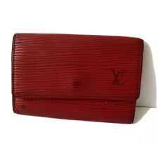 Auth Louis Vuitton Epi Leather Key Case Red