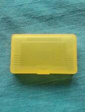 Amarillo Funda de plástico duro de reemplazo para Gameboy Advance Cartucho