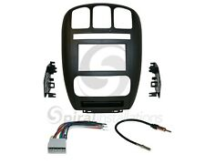 Radio Stereo Installation Dash Kit Combo Double Din + Wire Harness + Antenna D44