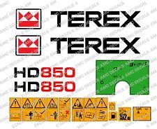 Terex HD850 con Cassone Ribaltabile Decalcomanie Adesivi Di Avvertimento adesivi e VERDE Dash Adesivo