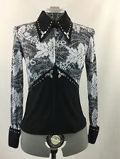 XS(0-2) Western Show Pleasure Rail Shirt Jacket Clothes Showmanship Horsemanship