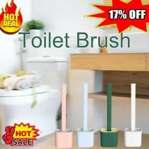 1Set Silicone Toilet Brush & Toilet Brush Holder Creative Cleaning Brush Tool