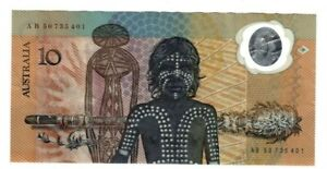 1988 Australia Bicentenary Johnston/Fraser $10 Polymer Banknote - AB50