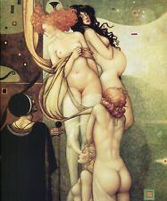 Michael Parkes HOPE nude feminine energy birth death fantasy surreal art print