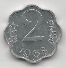 INDIA, REPUBLIC,1968(B), (BOMBAY), 2 PAISE, ALUMINUM, KM#13.5, CH. B.U.