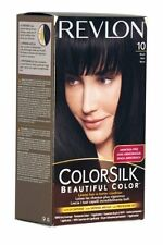 Revlon Hair Colourant ColorSilk Beautiful Colour 10 Black Shiny Permanent Dye