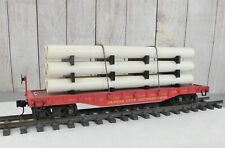 ARISTO-CRAFT / KANSAS CITY SOUTHERN FLAT CAR with CUSTOMIZED PIPE LOAD