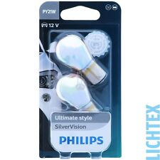 PY21W PHILIPS SilverVision - Ultimate Style Scheinwerfer Lampe DUO-Pack-Box