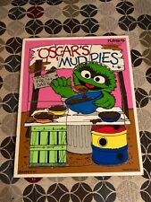 Playskool Oscar the Grouch Sesame Street Puzzle 1984 Wood Wooden Vintage Toy