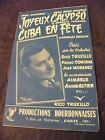 Partitur Merry Calypso Armand Tournel Cuba IN Fête Rico Truxillo 1958 Calypsos