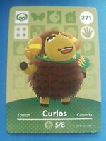 271 Curlos Animal Crossing Amiibo Card Single - Series 3 Near Mint US Version